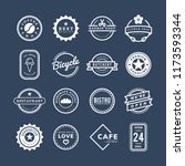 collection of logo and badge... | Shutterstock .eps vector #1173593344
