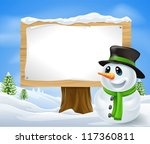Christmas Snowman And Large...