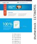 editable web template   icon set | Shutterstock .eps vector #117360931