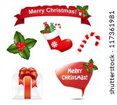 4 Merry Christmas Icons And...