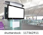 lcd tv with empty copy space at ... | Shutterstock . vector #117362911