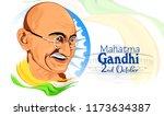 gandhi jayanti or 2nd october... | Shutterstock .eps vector #1173634387