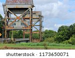 vertical lift bridge over... | Shutterstock . vector #1173650071