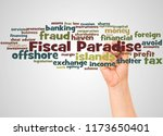 fiscal paradise word cloud and... | Shutterstock . vector #1173650401