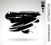 black brush stroke and texture. ... | Shutterstock .eps vector #1173652714
