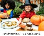 kids in costume enjoying...   Shutterstock . vector #1173662041