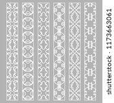 vector set of line borders with ... | Shutterstock .eps vector #1173663061