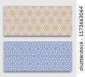 seamless horizontal borders... | Shutterstock .eps vector #1173663064