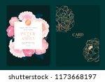 wedding invitation  floral... | Shutterstock .eps vector #1173668197
