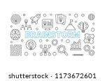 brainstorm outline horizontal... | Shutterstock .eps vector #1173672601