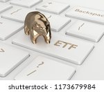 3d render of computer keyboard... | Shutterstock . vector #1173679984