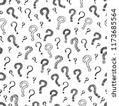 question mark seamless pattern... | Shutterstock . vector #1173685564
