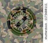 bandage plaster icon on camo... | Shutterstock .eps vector #1173688111