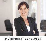 attractive businesswoman with... | Shutterstock . vector #117369514