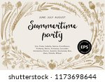 summertime party. floral... | Shutterstock .eps vector #1173698644
