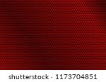 red metal perforated background.... | Shutterstock .eps vector #1173704851