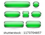 green glass buttons with chrome ... | Shutterstock .eps vector #1173704857
