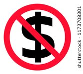 no money icon on white... | Shutterstock .eps vector #1173708301
