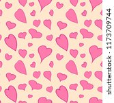 vector hearts seamless pattern | Shutterstock .eps vector #1173709744