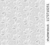3d white floral seamless texture   Shutterstock . vector #1173710251