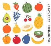 the set of fruit. melon.... | Shutterstock .eps vector #1173719587
