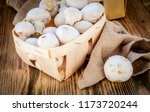 fresh champignon mushrooms in a ...   Shutterstock . vector #1173720244