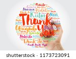 hand writing thank you word... | Shutterstock . vector #1173723091