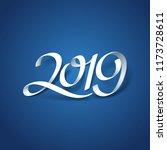 paper art of 2019 calligraphy... | Shutterstock .eps vector #1173728611
