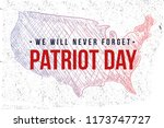 patriot day hand drawn.... | Shutterstock .eps vector #1173747727