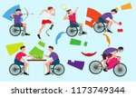 graphic of disabled athletes... | Shutterstock .eps vector #1173749344