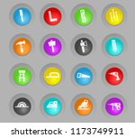 joinery colored plastic round... | Shutterstock .eps vector #1173749911