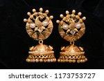 fancy golden earrings for woman ... | Shutterstock . vector #1173753727