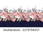 seamless horizontal flower... | Shutterstock .eps vector #1173756517