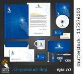 blue digital corporate identity ... | Shutterstock .eps vector #117376201