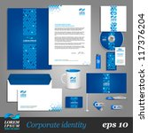 blue corporate identity... | Shutterstock .eps vector #117376204