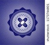 crossed bandage plaster icon... | Shutterstock .eps vector #1173766801