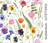 watercolor floral pattern ... | Shutterstock . vector #1173772921