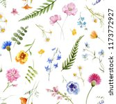 watercolor floral pattern ... | Shutterstock . vector #1173772927