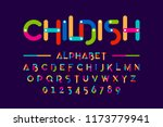 childish colorful font ... | Shutterstock .eps vector #1173779941