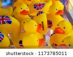 union jack yellow rubber ducks...   Shutterstock . vector #1173785011
