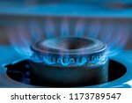 a bright neon blue flame... | Shutterstock . vector #1173789547