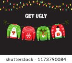 cute banner for ugly sweater... | Shutterstock . vector #1173790084