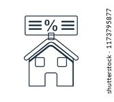 mortgage icon vector isolated... | Shutterstock .eps vector #1173795877