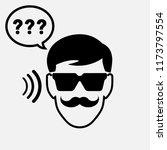 hearing loss illustration  deaf ... | Shutterstock .eps vector #1173797554