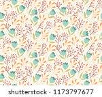 gentle flowers seamless pattern | Shutterstock .eps vector #1173797677