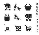 cart icon. 9 cart vector icons... | Shutterstock .eps vector #1173809254