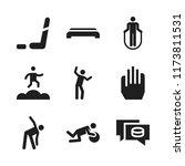 sportswear icon. 9 sportswear... | Shutterstock .eps vector #1173811531