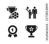 honor icon. 4 honor vector... | Shutterstock .eps vector #1173813844