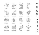 set of 16 simple line icons...   Shutterstock .eps vector #1173816817