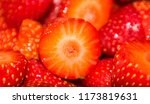 delicious strawberries cut for... | Shutterstock . vector #1173819631